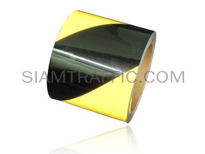 เทปติดพื้นสลับสีสะท้อนแสงเหลืองดำ
