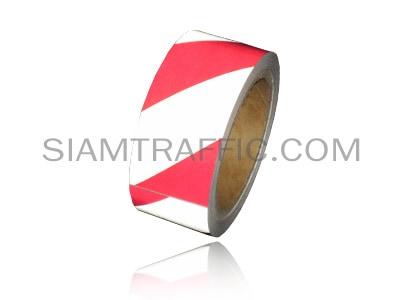 Floor tape red alternate white
