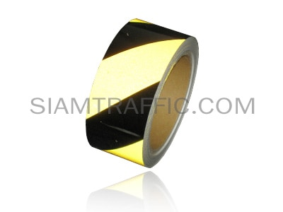 Floor tape yellow alternate black