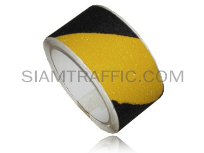 Yellow alternate black non slip tape