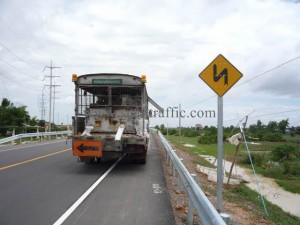 Road marking Cambodia